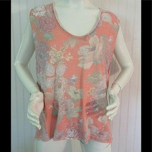 Anthropologie top by We The Free floral print sz M